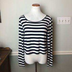 🍁3/$20 Gianni Bini Striped Long Sleeve Blouse